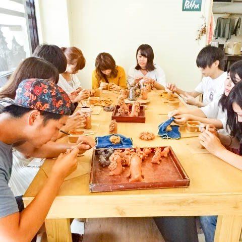 こどもも楽しめる石垣島のシーサー作り体験
